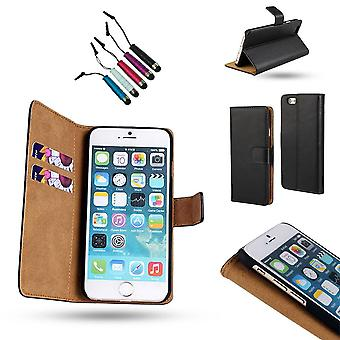 Iphone 6 / 6s - Læderetui / cover + Touch pen