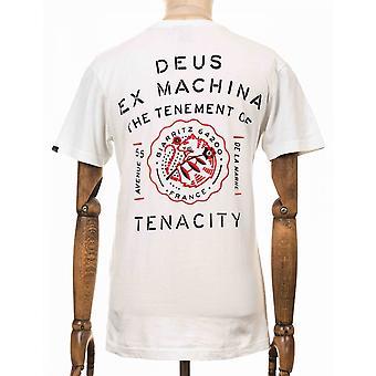 Deus Ex Machina Biarritz Address Tee - Vintage White