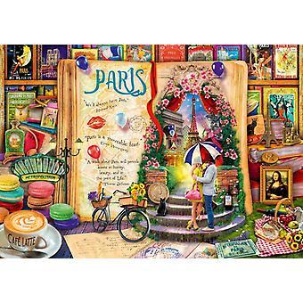 Bluebird Life is an Open Book Paris Jigsaw Puzzle (1000 Pieces)