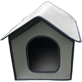 Outdoor Rainproof Pet House Is Foldable, Suitable For Cats, Rabbits, Small Dogs (gray)