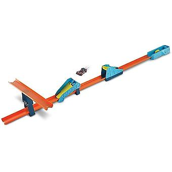 Toy race car track sets glc89 track builder unlimited long jump pack