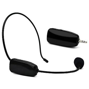 Microphones hot 2 in 1 handheld uhf wireless microphone professional head wear mic voice amplifier for speech