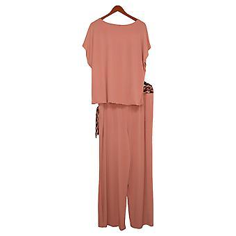 G By Giuliana Women's Set Reg 3-piece Top Bottom and Belt Pink 734839