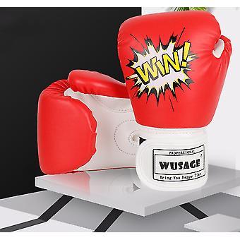 Dětské boxerské rukavice Taekwondo Rukavice Sanda Rukavice Bojové rukavice Dětské rukavice Bojové tréninkové rukavice, Červená