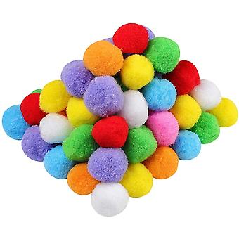 Pom Poms assortiti da 1,5 pollici per decorazioni artigianali creative fai-da-te, colori assortiti (pacchetto 200)