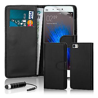 32nd Book wallet case + stylus for Xiaomi Mi5 - Black