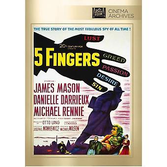 Cinco dedos [DVD] los E.e.u.u. la importación