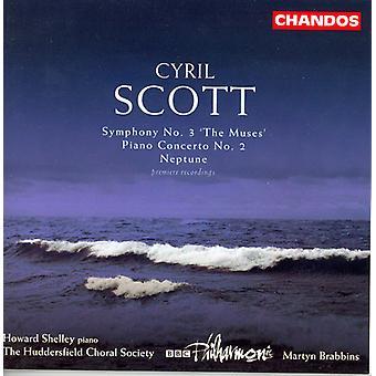 C. Scott - Cyril Scott: Symphonie n ° 3 les Muses; Concerto pour piano n° 2; Importer des USA de Neptune [CD]