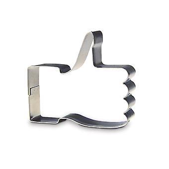 Herbatniki cookie cutter kciuki w górze jak foremka jak symbol