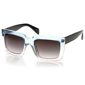 النظارات الشمسية الكبيرة جريئة مربعا المتضخم شفافة نغمتين جيلي