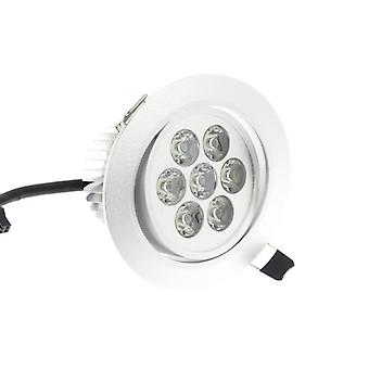I LumoS High Quality Epistar 7 Watts Silver Circle Aluminium Warm White LED Tiltable Recessed Spot Down light