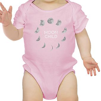 Moon Child Pink Baby Girl Bodysuit Cute Graphic Infant Bodysuit Gifts