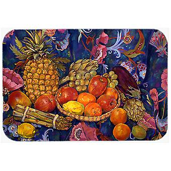 Fruit & Vegetables by Neil Drury Glass Cutting Board Large