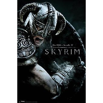 Skyrim - 攻撃ポスター ポスター印刷