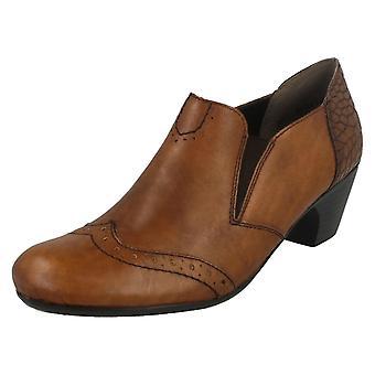 Damskie Rieker obcasie buty z akcentem szczegółowo 50563
