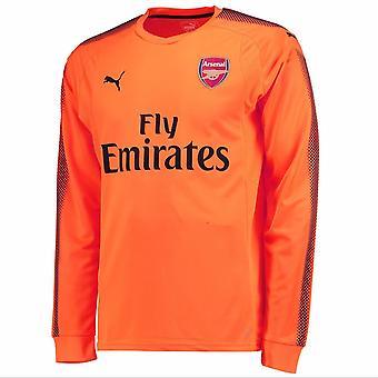 2017-2018 Arsenal Puma Away LS Goalkeeper Shirt (Orange)