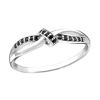 Knot - 925 Sterling Silver Jewelled Rings - W31155X