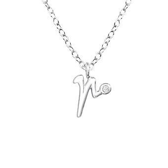 """""""r"""" - 925 Sterling Zilver Jewelled kettingen - W36576x"""