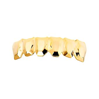 Één grootte past al bling Grillz - EDGY BOTTOM - goud