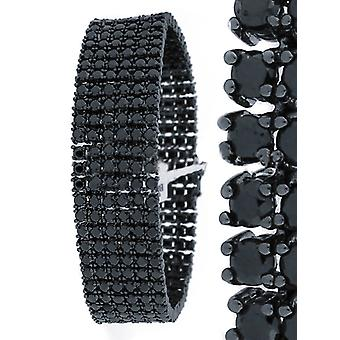 Iced Out Bling High Quality Armband - 6 FULL BLACK