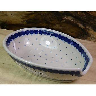 Spoon, 12.5 x 8.5 cm, tradition 26, Upper Lusatia ceramic - BSN 7586