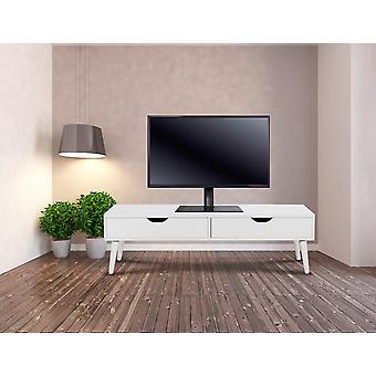 Top TV Tischfuß mit Glasboden, Höhe verstellbaren Einstellung Sockel Halterung LCD/LED für 37 Zoll bis 55 Zoll, schwarz, 28 x 55 x 66 cm