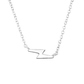 Thunderbolt - 925 Sterling Silver Plain Necklaces - W19129x