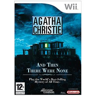 Agatha Christie - And Then There Were None (Wii) - New