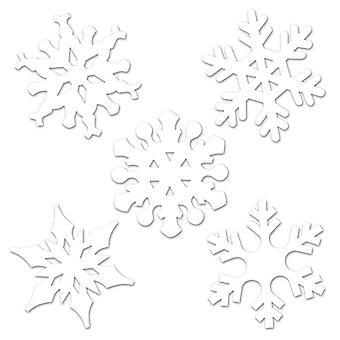 Mini-Schneeflocke-Ausschnitte