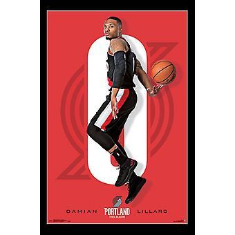 Portland Trail Blazers - Damian Lillard Poster Print