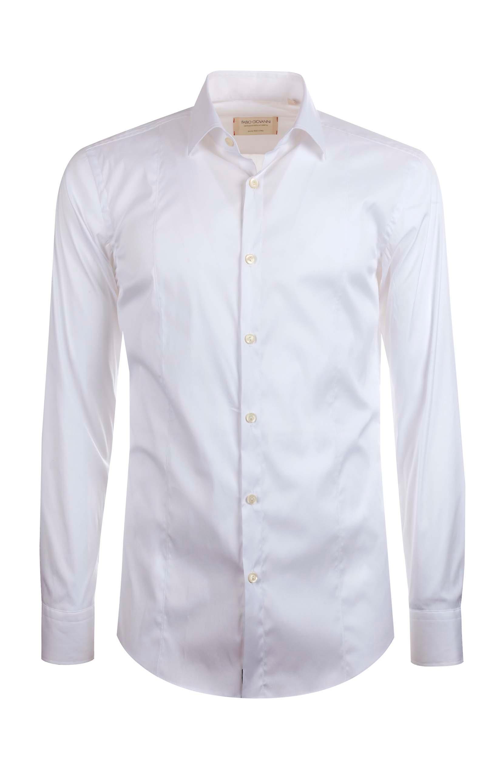 Fabio Giovanni Borsellino Shirt - Finest Italian Cotton Plain White Shirt