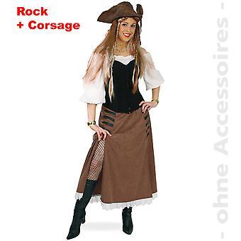 Pirat kostume damer pirat dame sutler Cowgirl værtinde Lady kostume