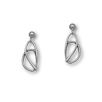 Sterling Silver Traditional Contemporary Modern Elle Design Pair of Earrings - E1433