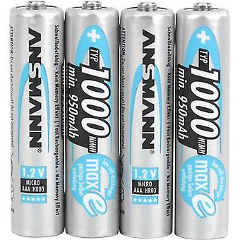 Ansmann HR03 AAA battery (rechargeable) NiMH 950 mAh 1.2 V 4 pc(s)