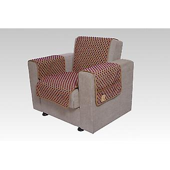 Armrests - and armchair saver set with 2 pockets MALI color: beige-colored wool