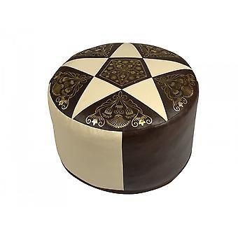 Sete pute kunstskinn mørk brun/champagne 7201304 Ø 50/34 cm