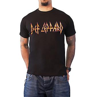 Def Leppard T Shirt classic Distressed band Logo new Official Mens Black