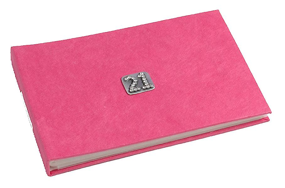 21 Célébration Fushia Rose Pocket Album Photo