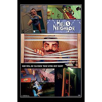 Hola vecino, impresión de póster Collage