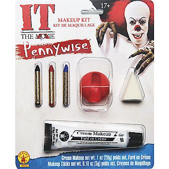 Pennywise IT Movie Stephen King Horror Clown Halloween Mens Costume Makeup Kit