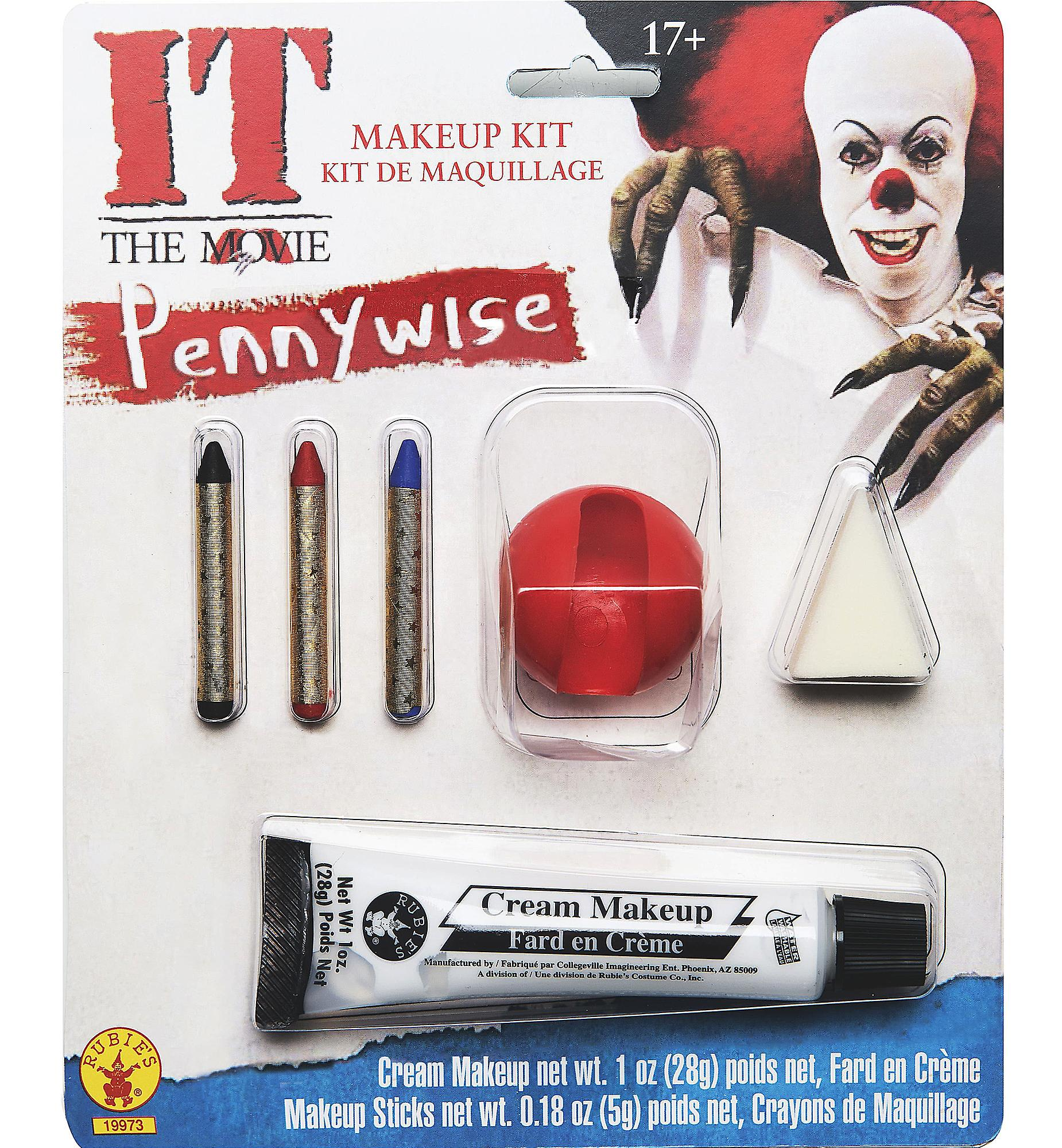 Pennywise IT Movie Stephen King Horror Clown Halloween Mens Costume Makeup Kit