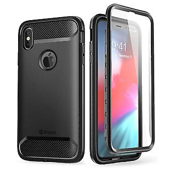 iPhone XS Max Case, [Xenon Series] Full-Body Rugged Case with Built-in Screen Protector 2018 (Black)