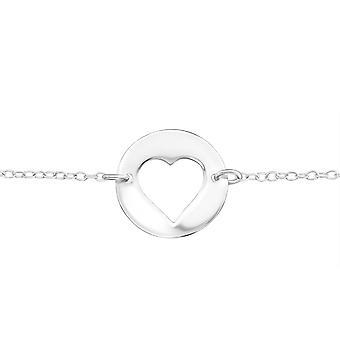Heart Inline - 925 Sterling Silver Chain Bracelets - W20455x