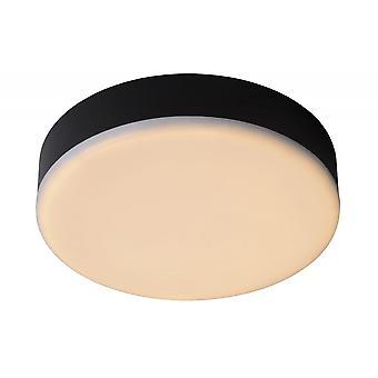 Lucide Ceres-LED moderne Runde Aluminium schwarz / weiß bündig Deckenleuchte