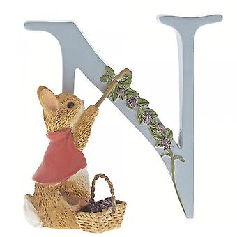 Beatrix Potter Alphabet Letter N Cotton-tail Figurine