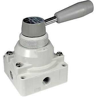 SMC Handle Manual Control Valve, Die Cast Aluminium 1/4In Rc, -5 To +60C