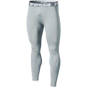 TSLA Tesla YUP21 Thermal Winter Gear Compression Pants - Light Gray/Light Gray