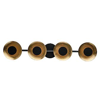 Glasberg - proyector LED lámpara luz cuatro de pared en la barra de 452024804 negro y dorado mate