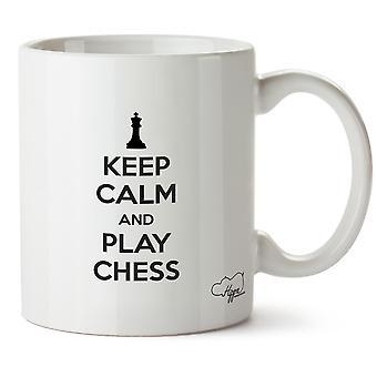Hippowarehouse Keep Calm And Play Chess Printed Mug Cup Ceramic 10oz