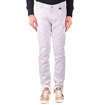 Jeckerson Ezbc069035 Men's White Cotton Jeans